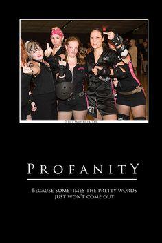 #rollerderby #profanity #middlefinger #flipthebird