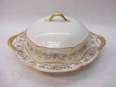 Haviland Co Limoges China Symphony Gold Butter Dish | eBay