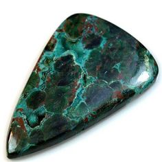 90Ct HUGE Natural Chrysocolla Malachite Druzy (55mm X 33mm) Cabochon #sonatona