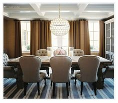love the comfy feel of this dining room