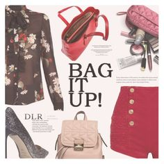 """""""DLRBOUTIQUE.COM: Which bag do you like with this look?"""" by eclectic-chic ❤ liked on Polyvore featuring Karl Lagerfeld, RED Valentino, Jimmy Choo, Pierre Balmain, Borbonese, sheer, dlrboutique and Spring2017"""