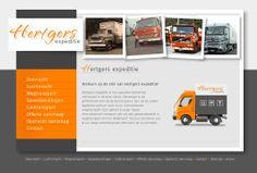 Website voor Hertgers Expeditie dat naast internationaal transport ook gespecialiseerd is in wegtransporten binnen Nederland.  http://hertgers.nl