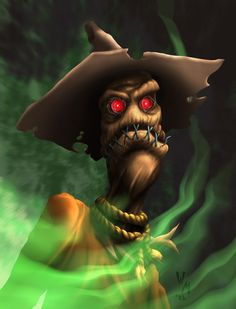 Scary Scarecrow Art | Scarecrow Portrait by ~quibly on deviantART