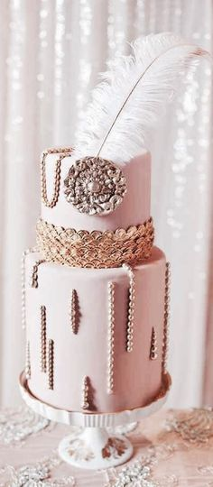 Great Gatsby Inspired Cake | #justjune