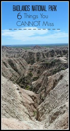 Top suggestions on things to see and do while visiting the Badlands National Park in South Dakota!