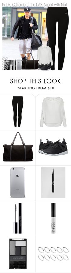 """""""Follow our Instagram~In LA, California at the LAX Airport with Niall"""" by elise-22 ❤ liked on Polyvore featuring NIKE, AllSaints, Zara, Stila, shu uemura, NARS Cosmetics, Wet n Wild and ASOS"""