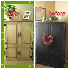Before/after armoire