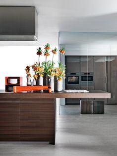 Kitchen with integrated handles VELA - @moltenidada