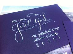 Custom Modern Calligraphy Envelopes -