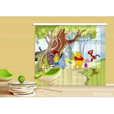 Micimackós gyerekfüggöny, blackout (280 x 245 cm)