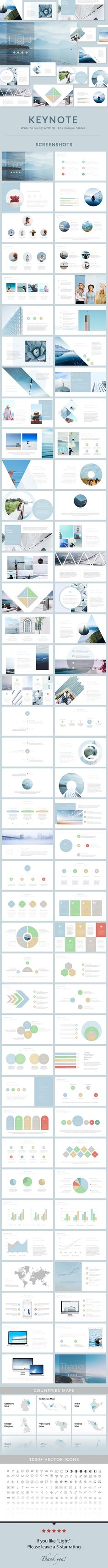 gold - clean keynote template, Presentation templates