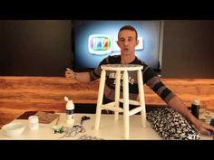 Como aplicar tecido em móveis antigos - YouTube
