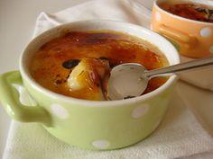 Leite creme de laranja e baunilha   Vanilla and orange custard