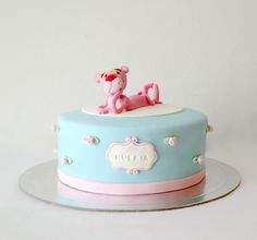 Pink Panther Cake Birthday Fun, Birthday Cake, Panthères Roses, Pink Panter, Cakes For Boys, Beautiful Cakes, Cake Cookies, Panther, Cake Decorating