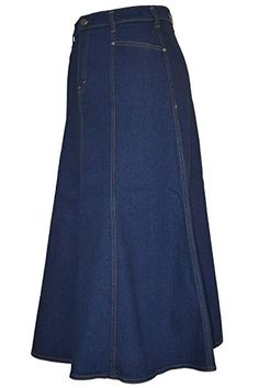 9ba96804280617 Ladies Plus Size Flared Indigo Denim Maxi Skirt - Sizes 16 - Length: Ladies Plus  Size Long Flared Indigo Stretch Denim Maxi Skirt Sizes, Panel Skirt with ...