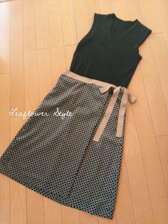 カシュクール型スカート♪ | Leaflower LIVING ハンドメイド・ワイヤークラフト教室 毎日着る上品なワンピースやスカートを作ってます