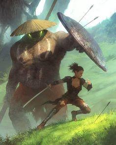 Conceito interessante. Imaginem uma personagem que pode sumonar monstros lendários no estilo da Yuna do FFX e usa-los para lutar contra os PJs.
