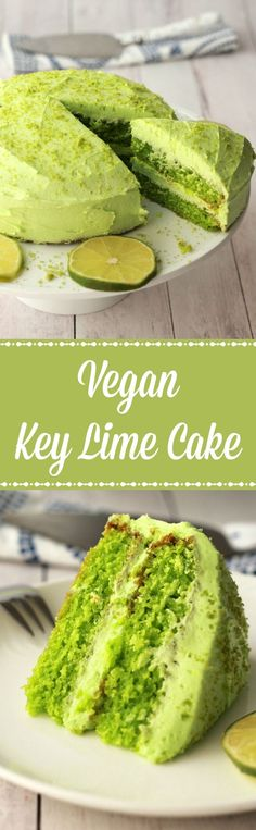 Vegan Key Lime Cake - Loving It Vegan