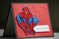 handmade spiderman bday card