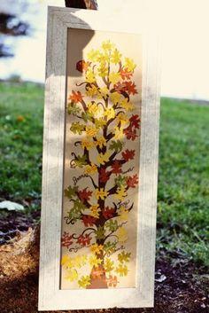 20 Creative Fall Wedding Guest Book Ideas