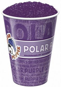 Purple slushi for a purple tongue!And If you kiss them you get purple lips too!!!;)