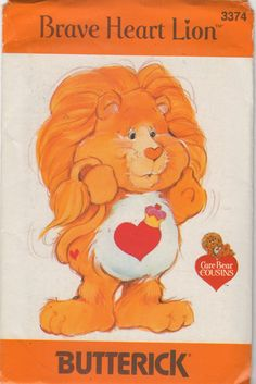 Butterick 3374 1980s BRAVE HEART LION Care Bear by mbchills