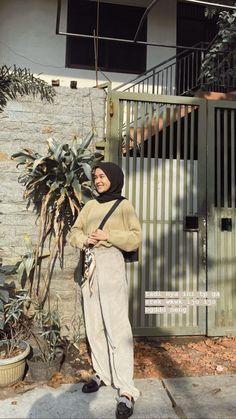 Hijab Fashion Summer, Modest Fashion Hijab, Modern Hijab Fashion, Street Hijab Fashion, Casual Hijab Outfit, Hijab Fashion Inspiration, Ootd Hijab, Hijab Chic, Muslim Fashion