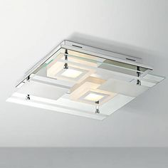 "Reese 13 1/2"" Wide Glass LED Ceiling Light .   1190 lumens"
