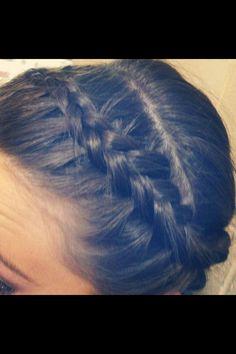 Inside out headband braid!!