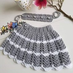 Crochet Kids Scarf, Crochet Baby Jacket, Crochet Baby Clothes, Newborn Crochet, Crochet Skirt Pattern, Crochet Skirts, Baby Summer Dresses, Baby Dress, Dress Design Sketches