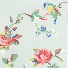 Wallpaper | Birds & Roses Wallpaper | CathKidston