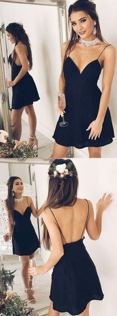 black homecoming dresses,little black dresses,party dresses,black dresses Little Black Dresses, dress, clothe, women's fashion, outfit inspiration, pretty clothes, shoes, bags and accessories