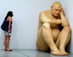 """Ronald """"Ron"""" Mueck (born 1958) is an Australian hyperrealist sculptor working in the UK"""