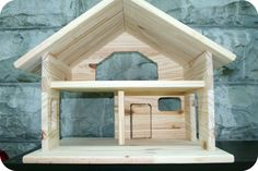 wooden dollhouse from Redwoodtoys on etsy $80