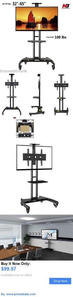 Entertainment Units, TV Stands: Universal Mobile Tv Trolley With Mount For 37 - 60 (Fits 32- 65) Screens BUY IT NOW ONLY: $99.97 #priceabateEntertainmentUnitsTVStands OR #priceabate
