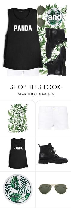 """#Pandaaaa"" by banana0307 ❤ liked on Polyvore featuring Frame Denim, Giuseppe Zanotti and Ray-Ban"