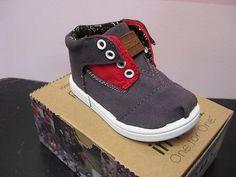 Tiny Toms Botas Grey Red | eBay