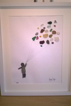 Sea Glass and Pebble Art Limited Edition Flying by TwoKissingFish