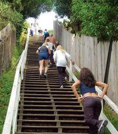 Butt blaster: Santa Monica Stairs, Los Angeles