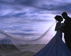 long veil on the beach- definitely