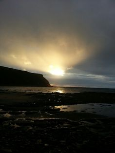 Sunset last night on the way to the pub Scotland, Celestial, Sunset, Night, Beach, Water, Outdoor, Art, Gripe Water