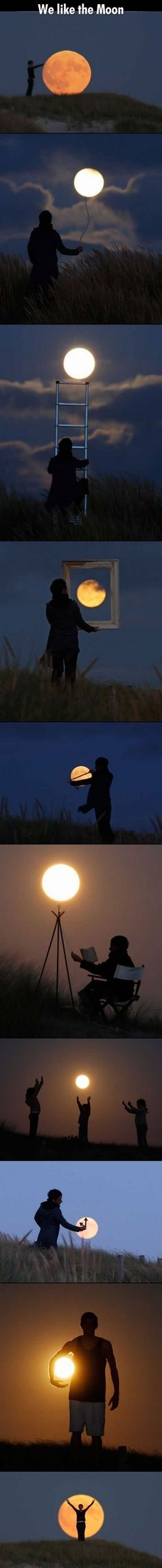 Fun ways to photograph the moon.