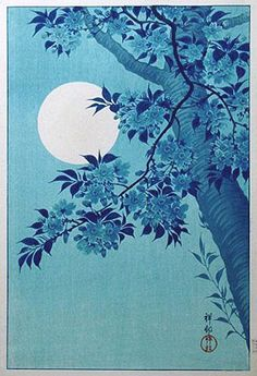 """Cherry on a moonlit night"""