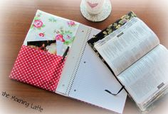 The Morning Latte: Quilted Spiral Notebook Cover