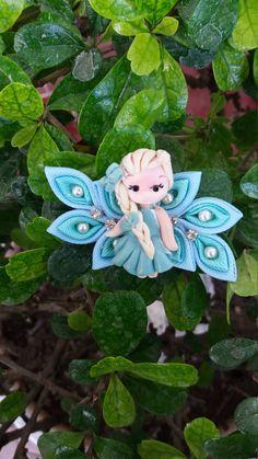 Princess Elsa Hairclip by LOVEMOCARA on Etsy