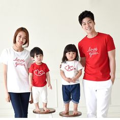 2016 Summer family clothing family cotton set mom/dad/baby clothes set family love set clothes for mother daughter short T-shirt