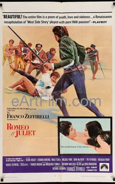 Romeo and Juliet 1968 27x41 One Sheet United States