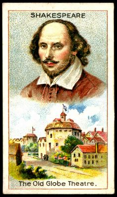 "https://flic.kr/p/7vTDhJ | Cigarette Card - William Shakespeare | Millhoff Cigarettes ""Men of Genius"" (series of 25 issued in 1924) #3 William Shakespeare - The Old Globe Theatre."