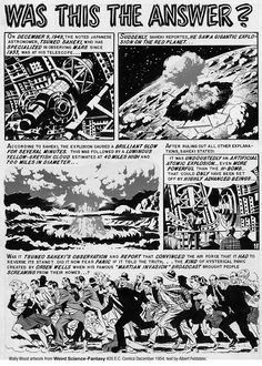 Wally Wood Artwork from EC Comics Weird Science, his use of halftones was masterful!