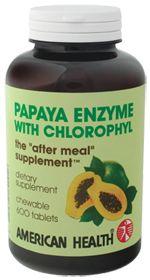 American Health Products Papaya Enzyme W/Chlorophyl, 600.0 Each , Chewable Tablets